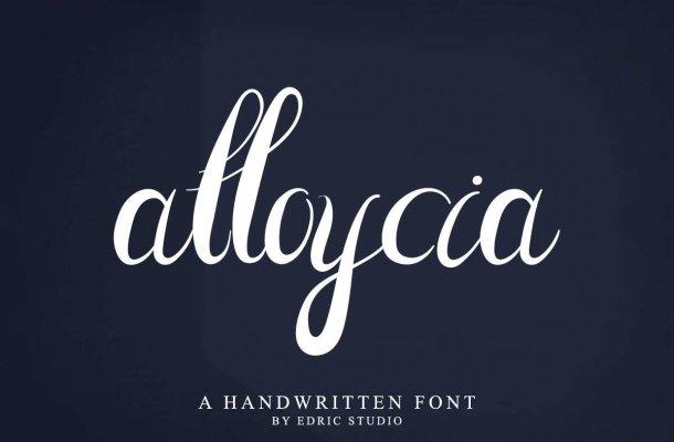Alloycia Calligraphy Font