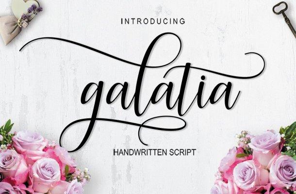 Galatia Script Font