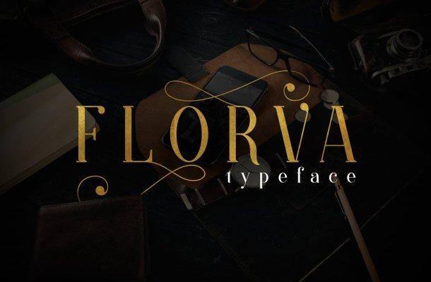 FLORVA TYPEFACE Font
