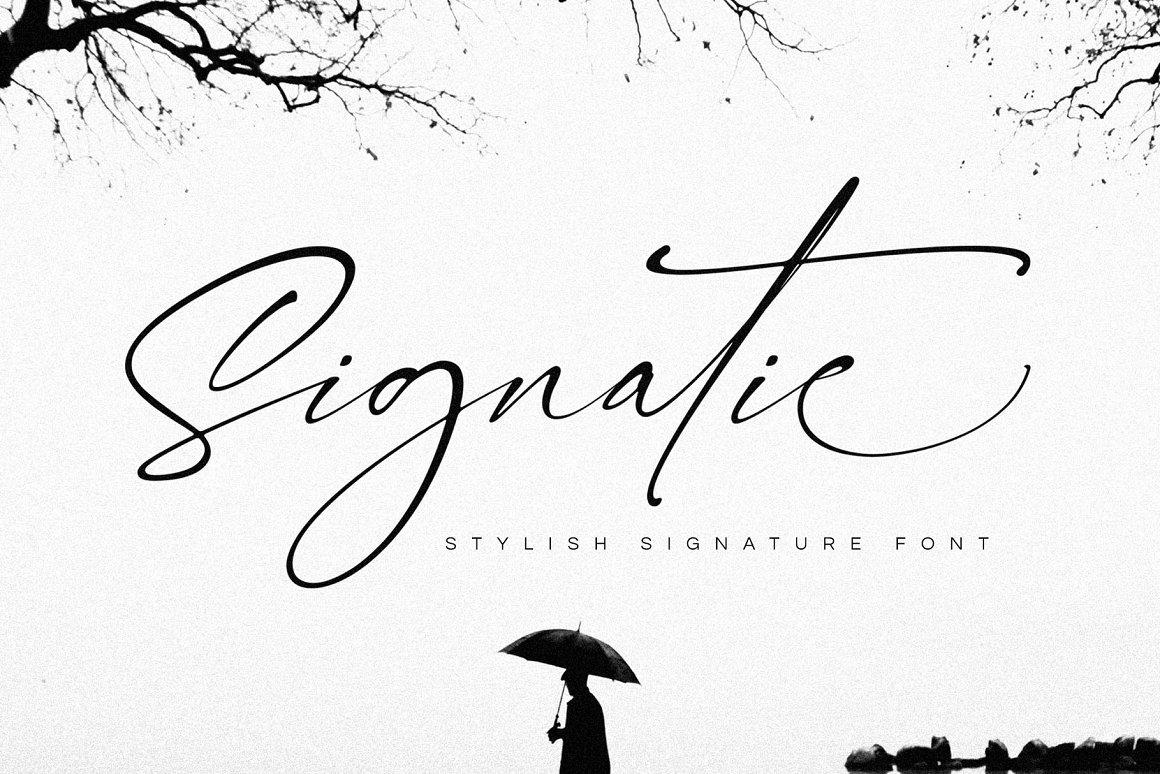 Signatie-Font