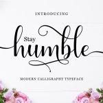 Humble Calligraphy Font