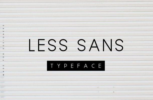 Less Sans Typeface