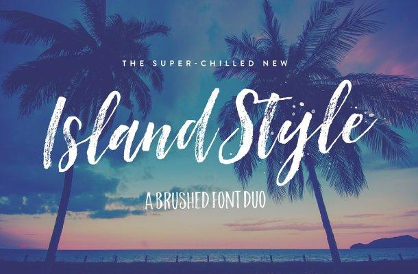 Island Style Brush Font