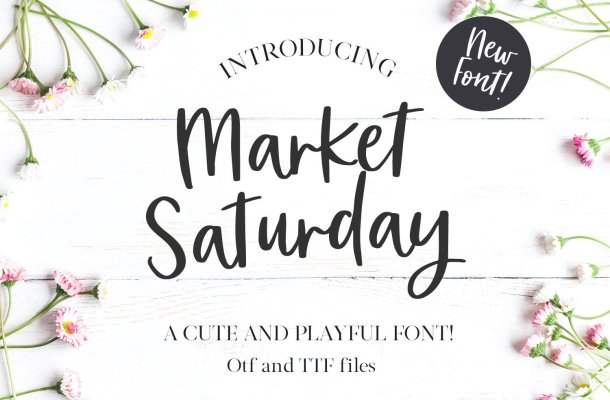 Market Saturday Script Font