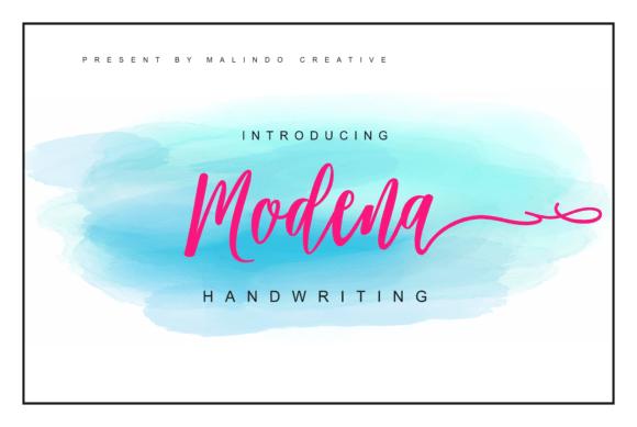 Modena Script Font