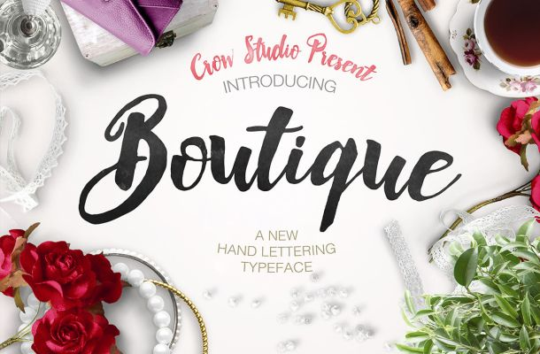 Boutique Brush Font