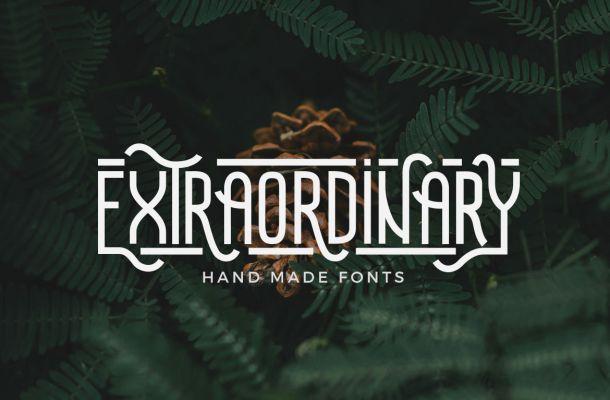 Extraordinary Handmade Font
