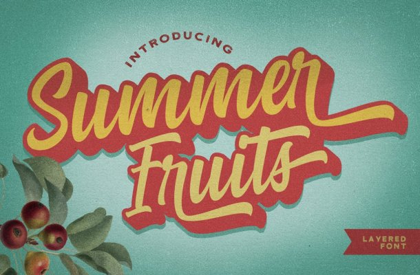 Summer Fruits – Layered Font