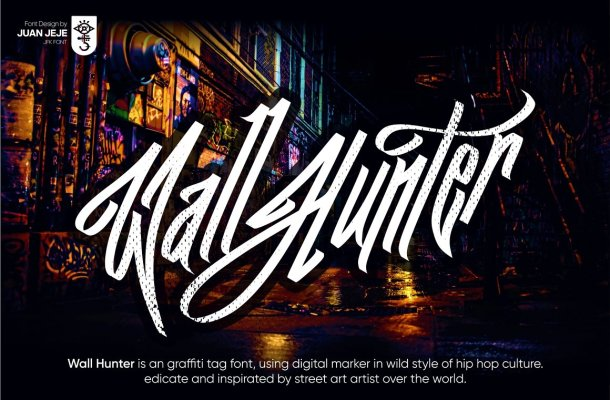 Wall Hunters Graffiti Font