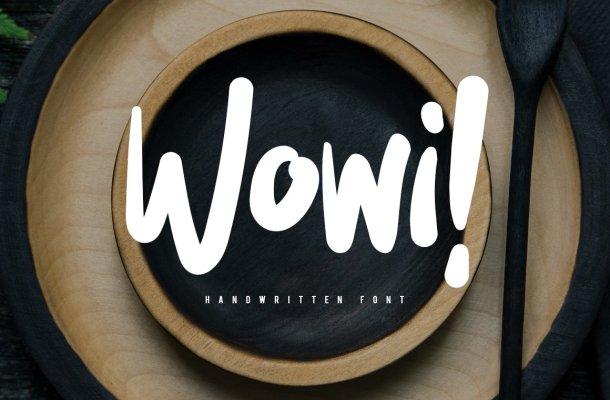 Wowi Brush Font