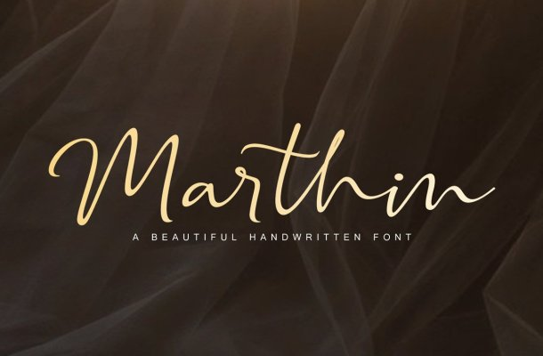 Marthin – Beautiful Handwritten Font