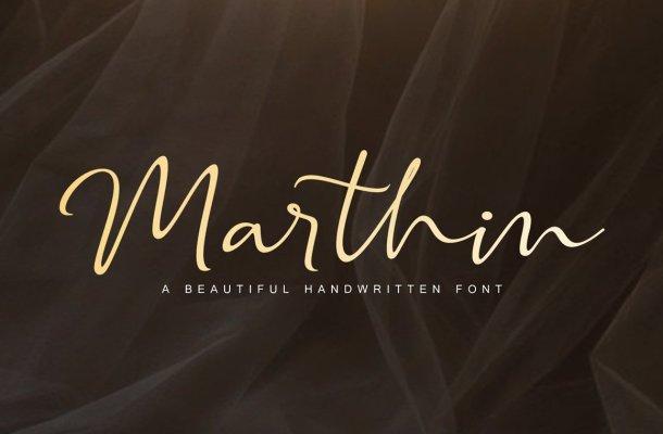 Marthin – Beautiful Handwritten Font