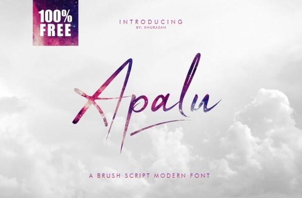 Apalu Script Font