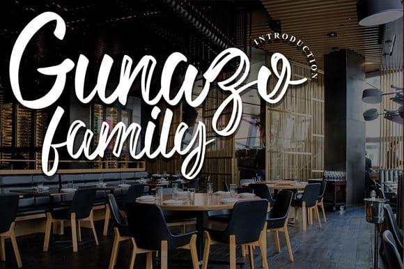 Gunazo Script Font Family