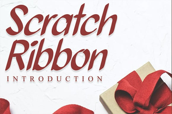 Scratch Ribbon Font
