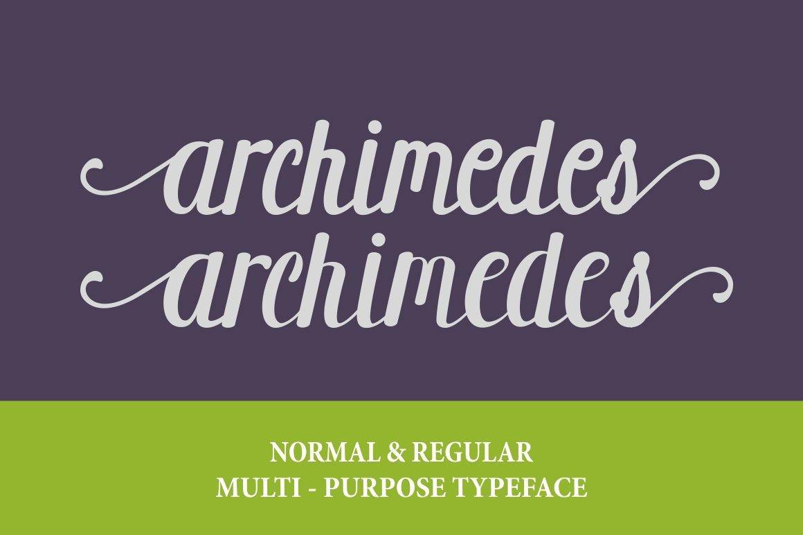 Archimedes-Font