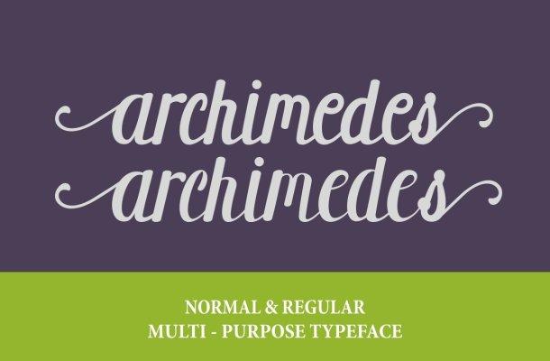 Archimedes Script Font