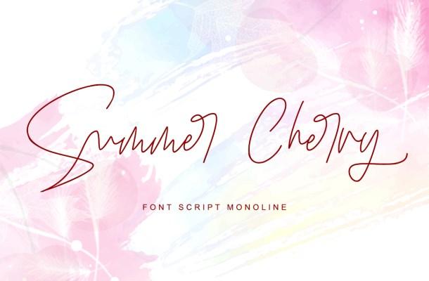 Summer Cherry Script Font