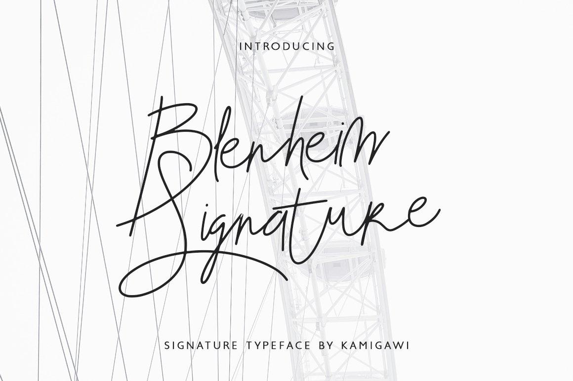 Blenheim-Font