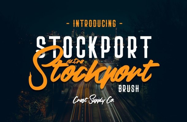Stockport Extra & Brush Font Family