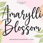 Amaryllin Blossom Script Font