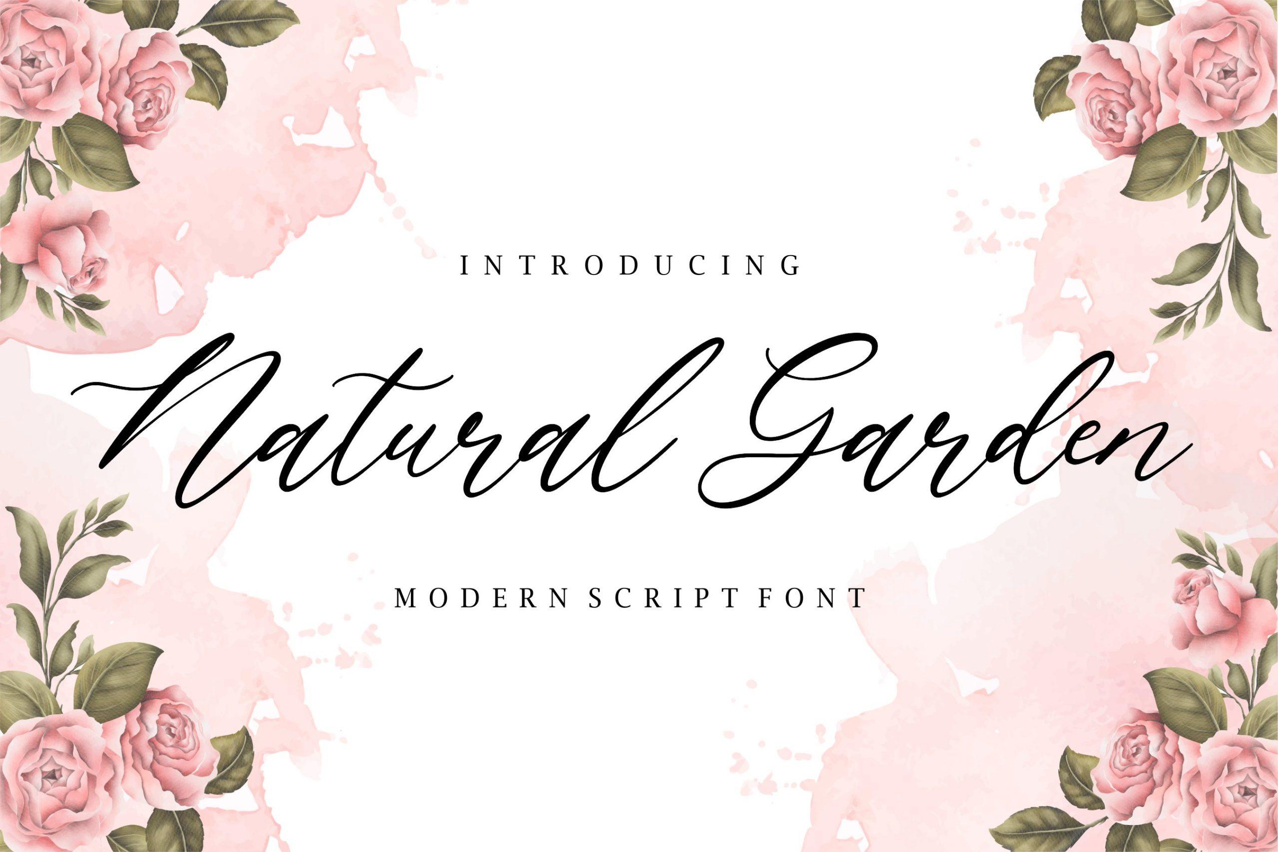 Natural-Garden-Font