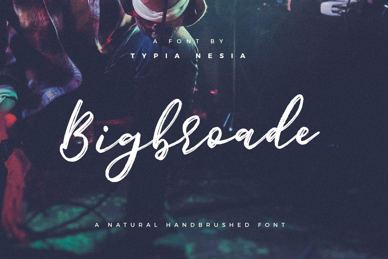 Bigbroade-Font