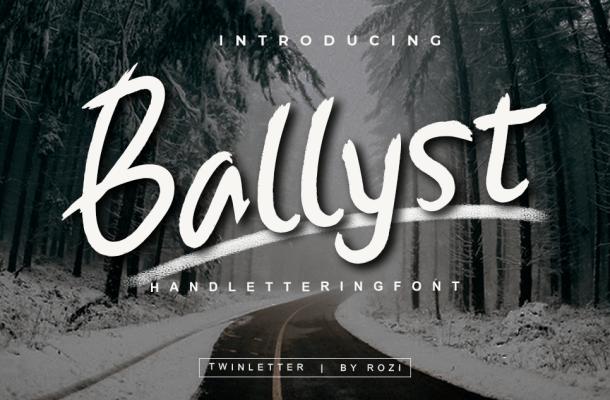 Ballyst Brush Font By twinletter