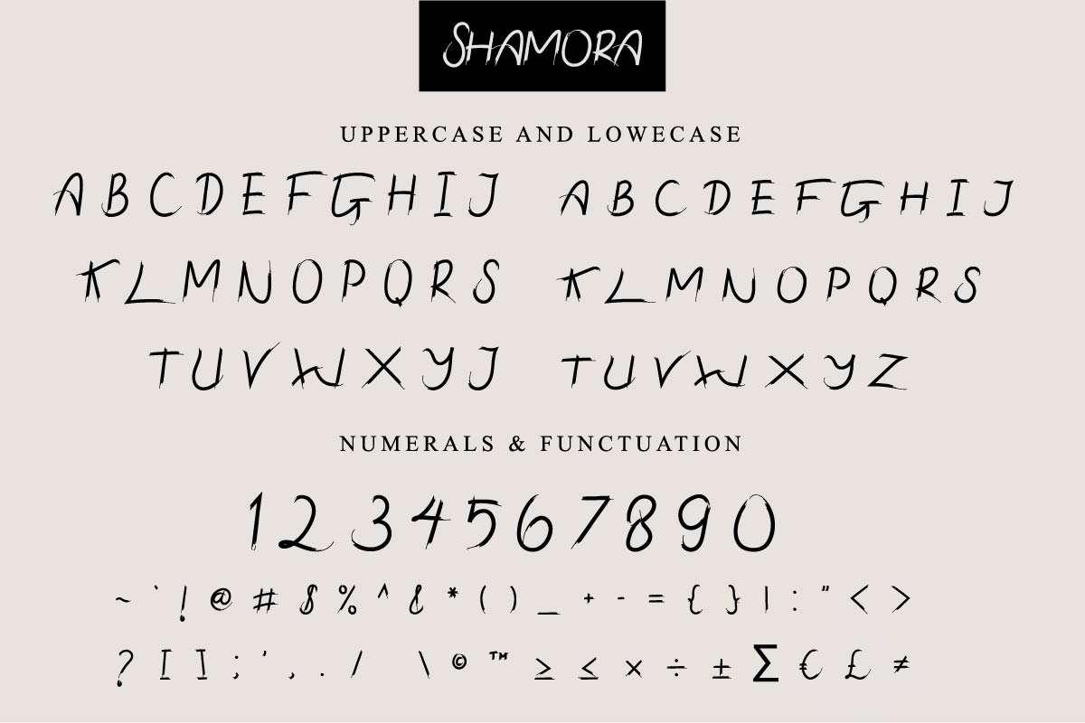 Shamora-Font-4