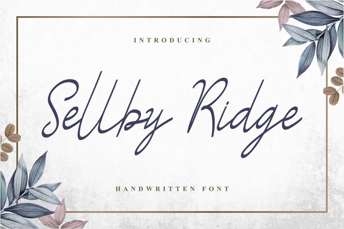 Sellby-Ridge-Font