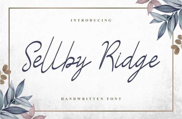 Sellby Ridge Calligraphy Font