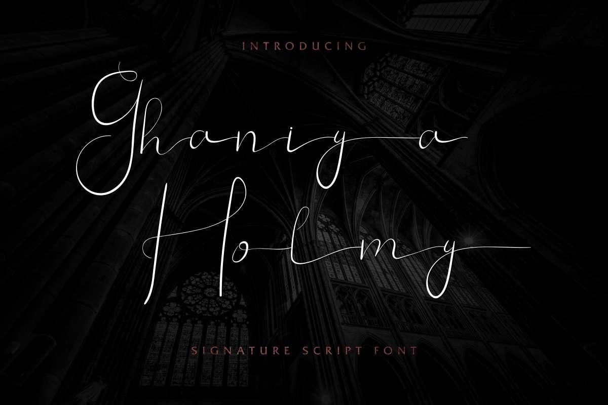 Ghaniya-Holmy-Font