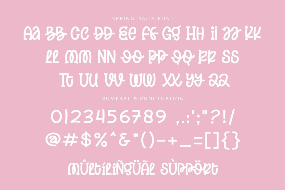 Spring-Daily-Font-3
