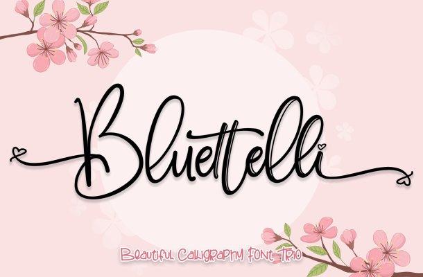 Bluettelli Calligraphy Font
