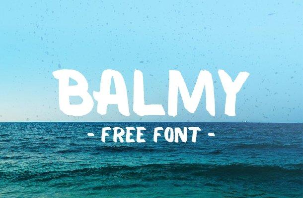 Balmy Brush Font