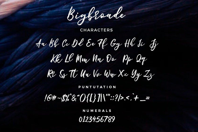 Bigbroade-Font-3