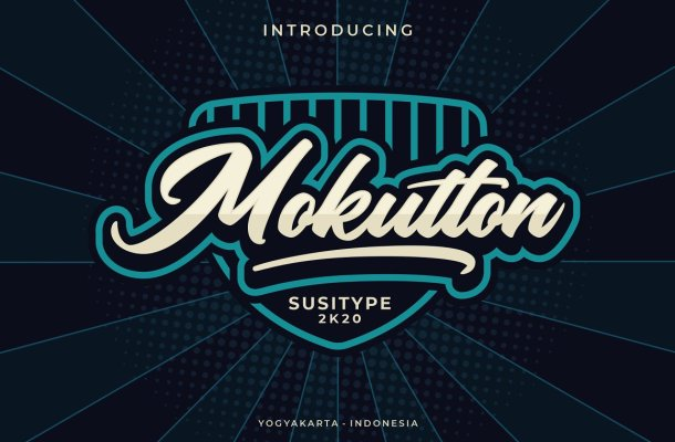 Mokutton Calligraphy Font