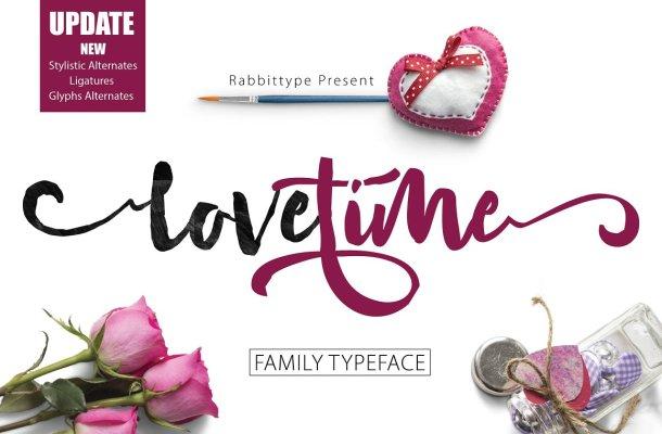 Lovetime Script Font