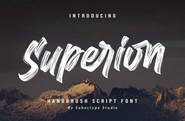 Superion Brush Font