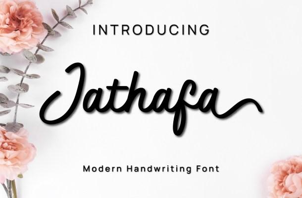 Jathafa Handwritten Font