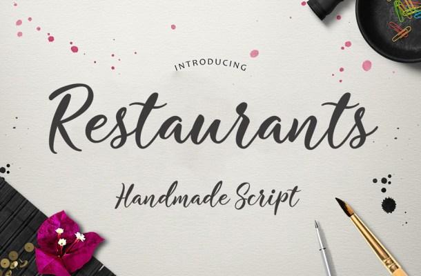 Restaurants Script Font