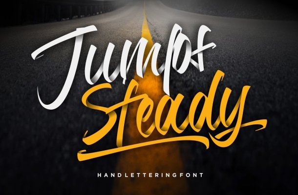 Jumps Steady Font