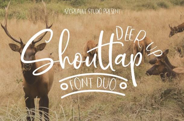DeerUp Shouttap Duo Font