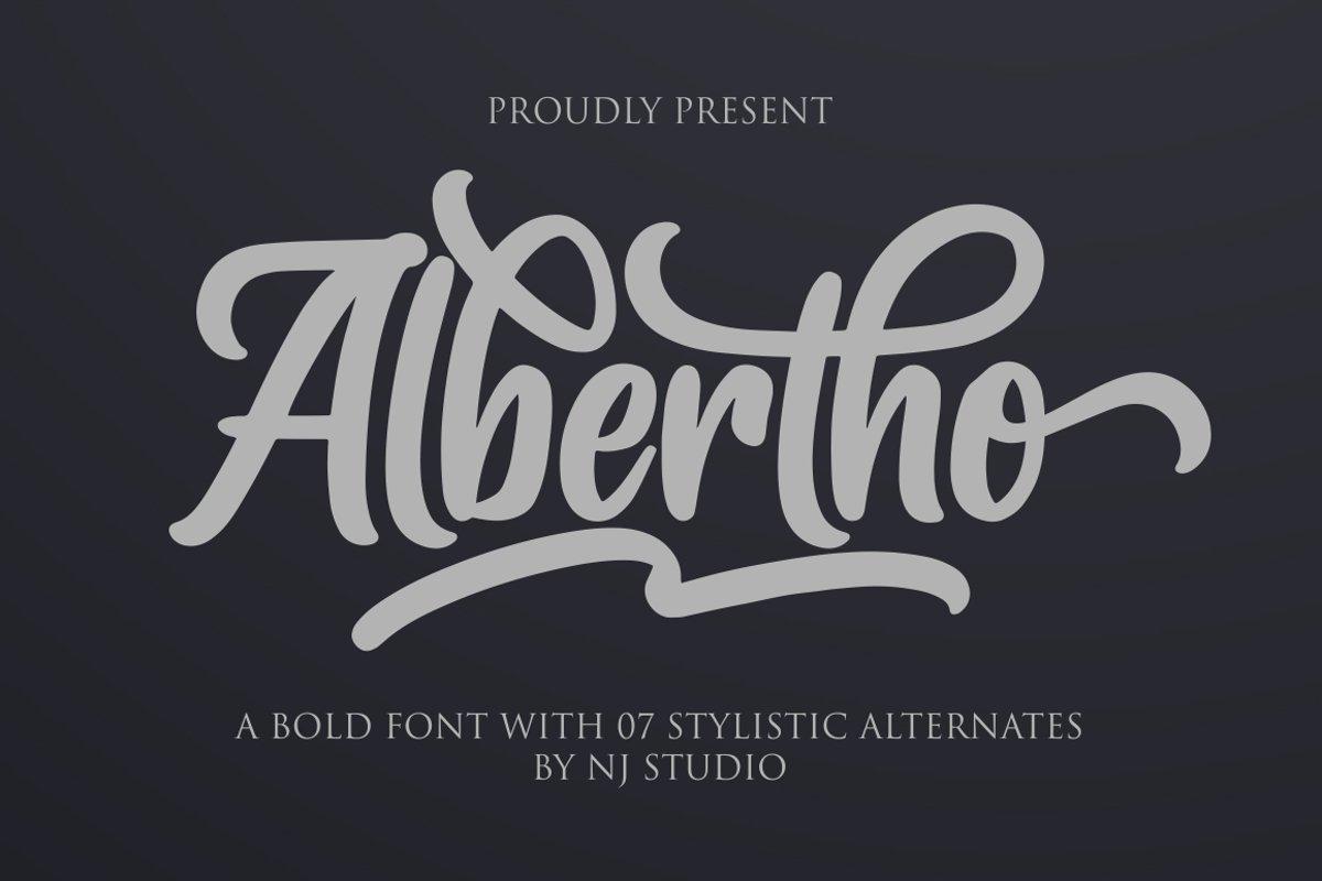 Albertho-Bold-Script-Font-1
