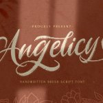 Angelicy Textured Brush Font
