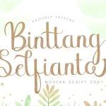 Binttang Selfianto Calligraphy Font