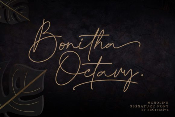 Bonitha Octavy Signature Font