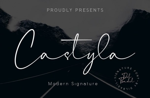 Castyla Modern Signature Font