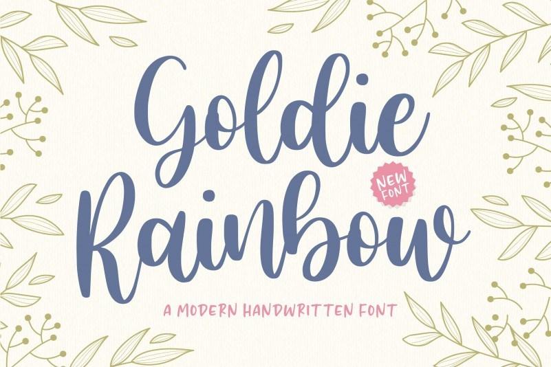 Goldie-Rainbow-Handwritten-Font-1
