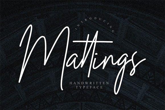 Mattings Handwritten Signature Font
